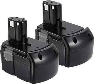 VANON 4.0Ah EBM1830 Battery for Hitachi, 18V 2 Pack Li-ion Battery for Hitachi BCL1815 BCL1820 BCL1825 BCL1830 EB 1820L C 18DL C 18DLX C 18DMR DS18DFLG DS18DL 327730 327731 Cordless Tools