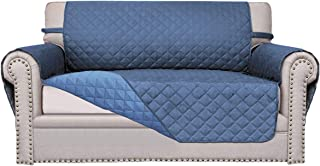 Easy-Going Sofa Slipcover Reversible Sofa Cover Furniture Protector Anti-Slip Foams Couch Cover Water Resistant Elastic Straps PetsKidsChildrenDogCat(Loveseat,Dark Blue/Light Blue)