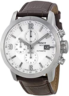 Tissot Men's T0554271601700 Automatic Chronograph and Tachymeter Sapphire Crystal Leather Band Watch