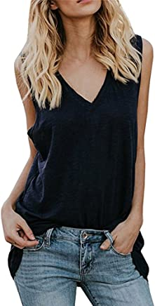 1773594fddfd TWGONE Tunic Tank Tops for Women V Neck Sleeveless Casual Summer Loose Fit  Vest Shirts (