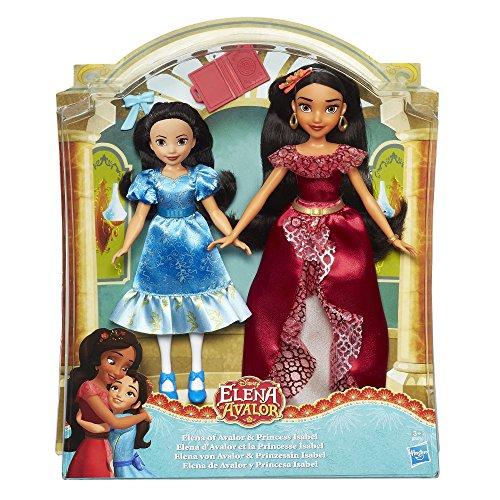 Disney Girls Hasbro Bambola, Elena Elena e Isabel 32 x 27 cm Multicolore
