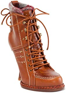 New Montagne Rusty Leather Booties 36.5 US 6.5