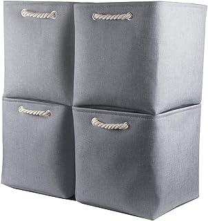 Mangata Cube de Rangement Tissu 30 x 30 x 30 cm, Panier Cube de Rangement, Boite de Rangement Pliable pour Jouets, Vêtemen...