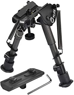 CVLIFE 6-9 Inches Carbon Fiber Rifle Bipod with M-lok Mount Adapter for Hunting and Shooting