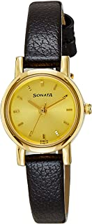 Sonata Analog Gold Dial Women's Watch -NJ8976YL01W