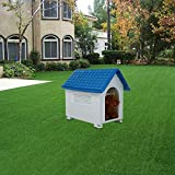 PETS EMPIRE Large Waterproof Weatherproof Outdoor Indoor Plastic Pet Puppy Dog House ( 82x56x71 cm )