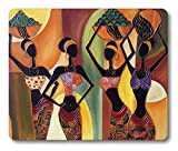 Smooffly African Gaming Mouse Pad Custom,Four African Woman Non-Slip Thick Rubber Large Mousepad Mat