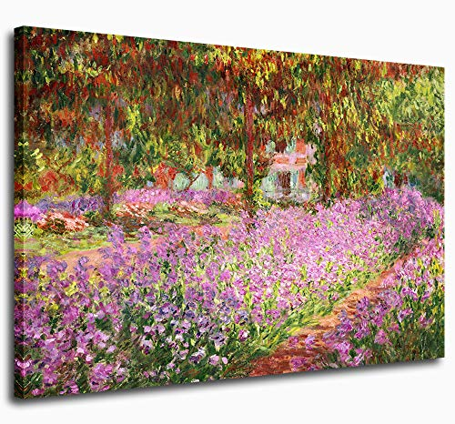 Canvas Wall Art Prints Irises in Monet's Garden by Claude Monet Canvas Painting Picture
