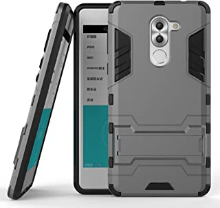 Case for Huawei Mate 9 Lite/Honor 6X (5.5 inch) 2 in 1 Shockproof with Kickstand Feature Hybrid Dual Layer Armor Defender ...