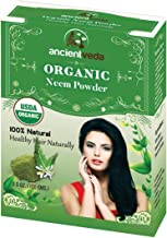 AncientVeda Neem Powder   All Natural Cure for Dandruff, Dry Scalp & Lice   100% USDA Organic Hair Treatment