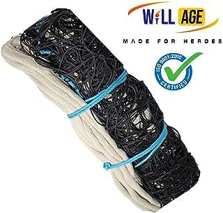 WILLAGE Black Heavy Duty Machine Made Nylon Volleyball Net