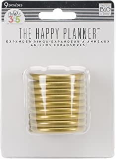 me & my BIG ideas Create 365 The Happy Planner Expander Rings, Gold ( Packaging May Vary )