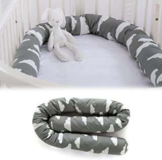 Sanmubo Long Bumper Snake, 79in Crib Bumper, Crib Pillow, Toddler Bed Sleep Bumper,Cot Pillow,Organic Cotton Padded Liner for Crib and Bed,Breathable Crib Liner for Boys & Girls