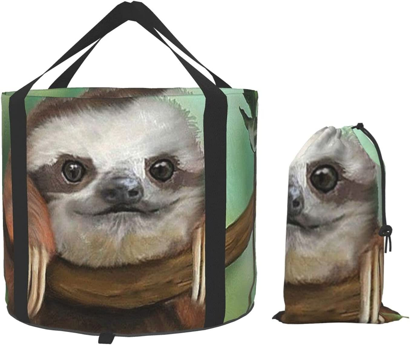 VVEGACE Fixed price for sale Sloth Cute Animal Bucket Po Multifunctional Collapsible Ranking TOP8