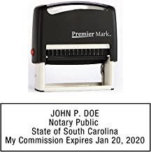 South Carolina Notary Self-Inking Rubber Stamp - Meets State Specifications