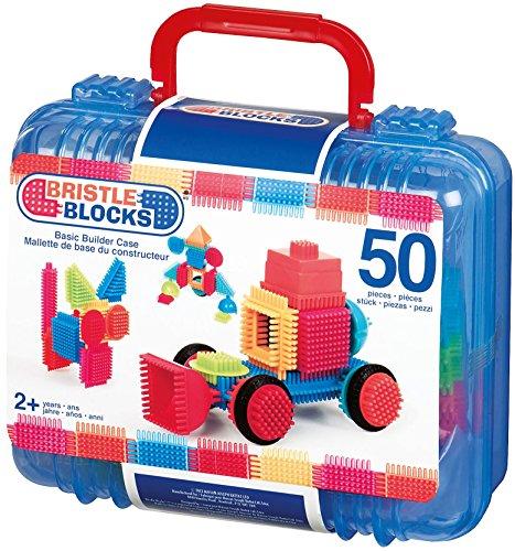 Bristle Blocks BA3081MTZ - Jeu de Construction 1er âge - Blocs de Construction 50 Pièces - Kit de base avec Valisette