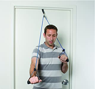 CanDo 10-5043 Tubing Shoulder Pulley Exercisers, Heavy, Blue