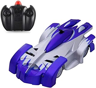 KINGBOT RC Cars for Kids Remote Control Car Toys Dual Mode 360° Rotating Stunt RC Car High Speed Vehicle with Led Lights Rechargeable Battery Best Gift for Boys Girls of Age 3-16 Blue