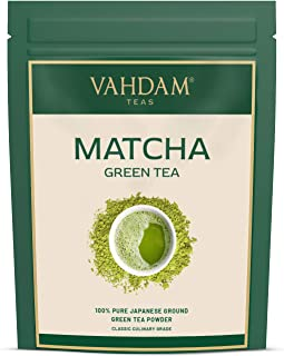 VAHDAM, Matcha Groene Thee Poeder SUPERFOOD (50 porties) 100g, 100% Puur Authentiek Japans Matcha Poeder, Klassieke Culina...