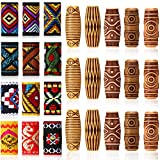 27 Pieces Hair Tube Beads and Fabric Dreadlock Beads DIY Hair Braiding Jewelry Accessories Mix Hair Braid Cuff Clip for Men Women Hip-Hop Style (Spiral Style Beads)