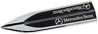 YONGHONG Side Wing Emblem Badge Sticker Wing Fender Metal for Benz A B GLA CLA C E S GLK SLK CLS SL Class AMG(Black)