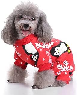 S-Lifeeling Christmas Snowflake Penguin Dog Costumes Holiday Halloween Christmas Pet Clothes Soft Comfortable Dog Clothes