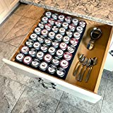 Polar Whale Coffee Pod Storage Organizer Tray Drawer Insert for Kitchen Home Office Waterproof Washable Made in USA 12.6 X 17.9 Inches Holds 48 Compatible with Keurig K-Cup