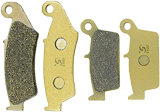SYUU Motorcycle Replacement Front Rear Brake Pads Brakes for Suzuki DR 125 RM 125 RMX 250 RM 250 1996-2009 2010 2011 2012 DR-Z 400 DRZ 400 2000 2001 2002 2003 2004 2005 2006 2007 2008 FA185F FA131R