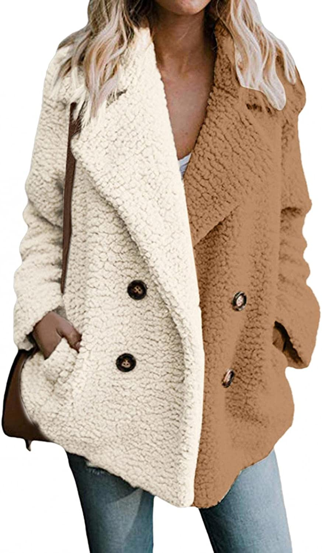 JINF Women's Casual Jacket Winter Warm-Patchwork Outwear Ladies