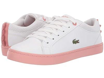 Lacoste Kids Straightset 419 1 (Little Kid) (White/Pink) Kid