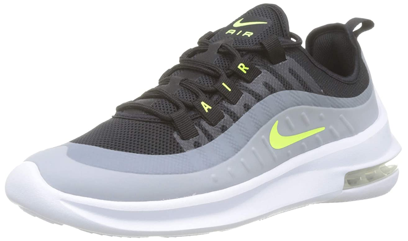 Nike Men's Air Max Axis Running Shoe, Black/Volt-Wolf Grey-Anthracite, 13