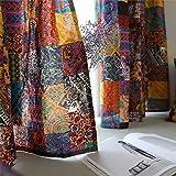 CoutureBridal Cortinas bohemias traslúcidas de algodón con aspecto de lino,...