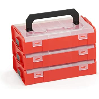Juego de tornillos y tacos Fischer 547166 FIXtainer 306 piezas color gris y rojo
