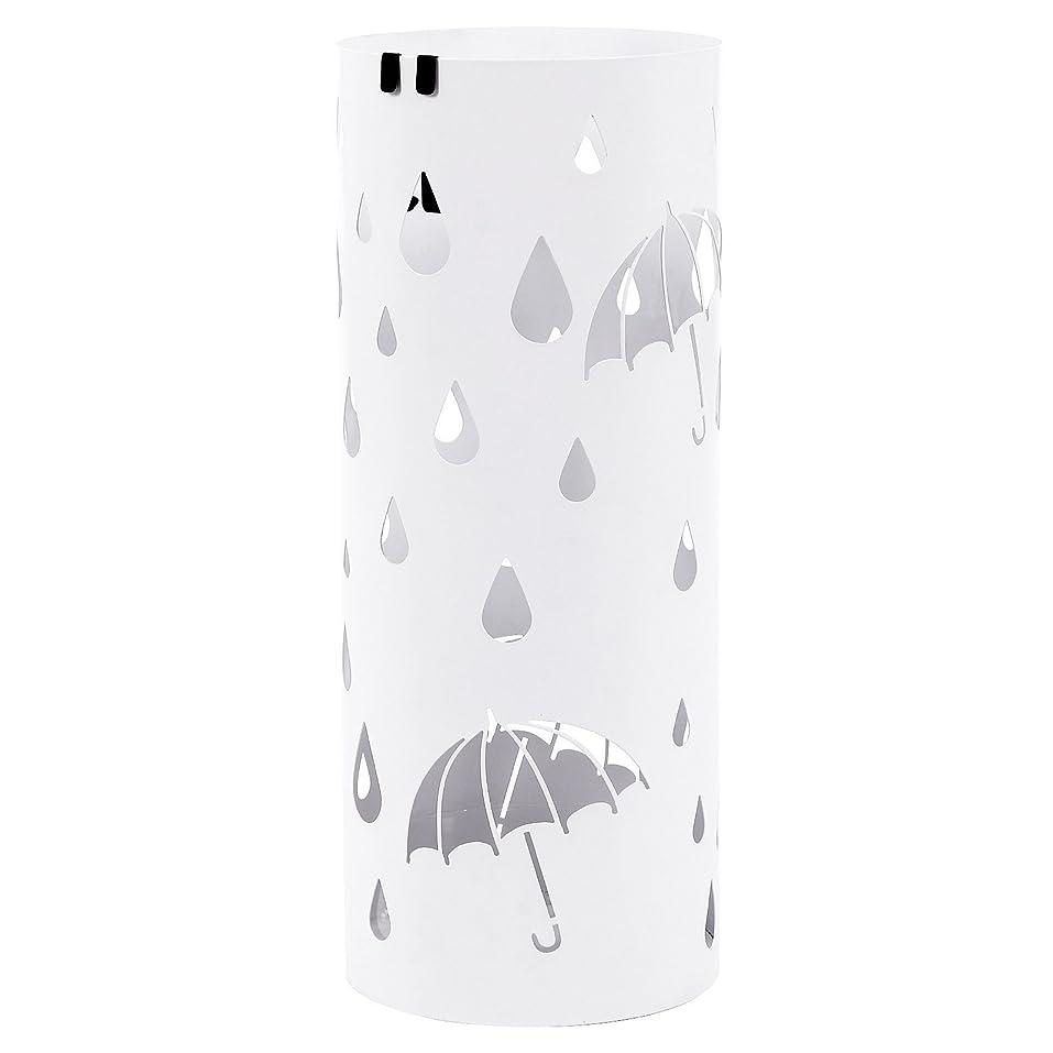 繊毛地上で志すSONGMICS 傘立て スリム 水受けトレイ付き 折り畳み傘兼用 玄関 収納 白 NLUC23W