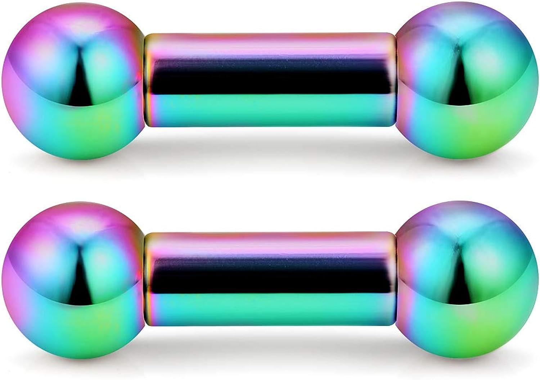 Ftovosyo PA Rings Internally Threaded Straight Barbell Free shipping Dallas Mall Nipple Ri