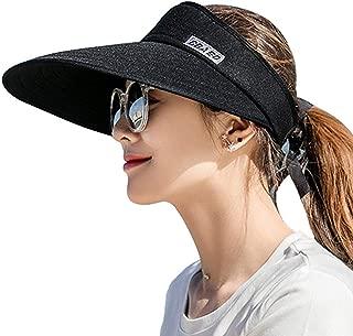 AUNIY Sun Visor Hats for Women, Large Brim UV Protection Summer Beach Cap, 5.5''Wide Brim