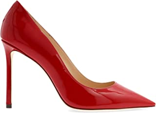 JIMMY CHOO Women's ROMY100PATENTRED Red Leather Pumps