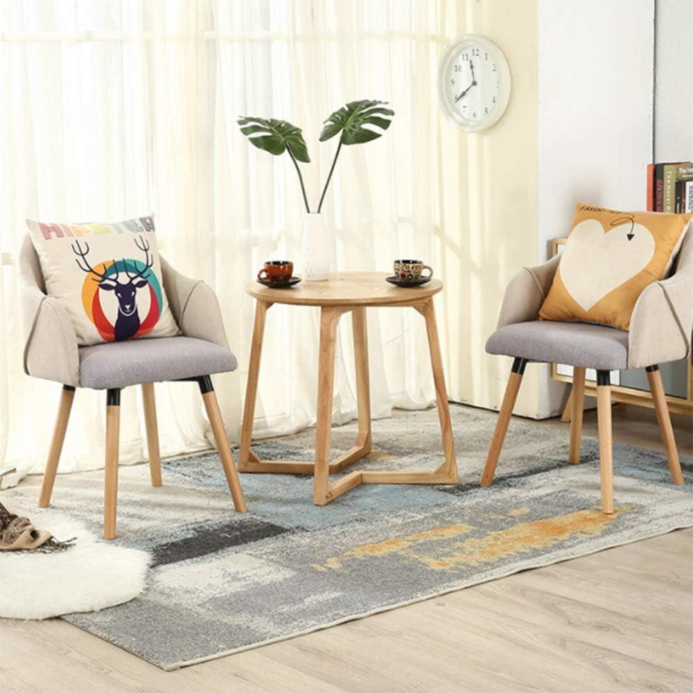 Chaise De Salle A Manger en Tissu I Chaise Design Retro Scandianve Dossier Et Accoudoirs I Fauteuil De Salon Confortable,D B