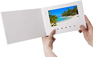 """LuguLake 7"""" Video Greeting Card,Video Brochure for Mother`s Day, Christmas, Anniversary, Marketing Include 2G Memory and Rechargeable Battery LCD Screen Digital Brochures"""