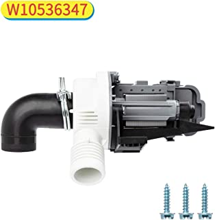 Decorlife Washer Drain Pump W10536347 Compatible with Whirlpool Kenmore Maytag Washer Replaces 2392433, 8542672, AP5650269, W10049390, W10155921