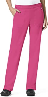 6015c0845e4 Halo By Vera Bradley Women's Matilde Elastic Quilted Waistband Scrub Pant  Small Petite Pretty Pink