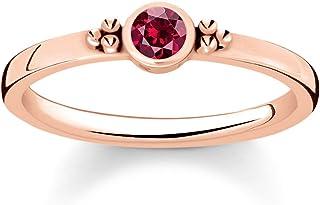 THOMAS SABO 女士戒指 皇家红宝石 925 纯银 750 玫瑰金 镀金 TR2154-540-10