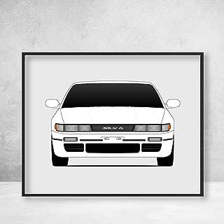 Nissan S13 Silvia JDM Nismo Poster Print Wall Art Decor Handmade