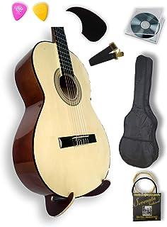 Guitarrra Clasica Nogal en Super paquete todo incluido, curs