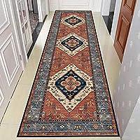 ペルシャ絨毯ランナー、古代の犠牲模様の長い廊下のカーペット、幅:0.6 / 0.8 / 1 / 1.2m(Size:0.6×2m)