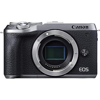 Canon Mirrorless Camera [EOS M6 Mark II](Body) for Vlogging CMOS (APS-C) Sensor  Dual Pixel CMOS Auto Focus  Wi-Fi  Bluetooth and 4K Video, Silver