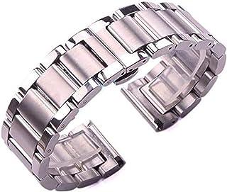 Achket الصلب ووتش الفرقة الصلبة 316L الفولاذ المقاوم للصدأ watchbands الفضة 18 ملليمتر 20 ملليمتر 21 ملليمتر 22 ملليمتر 23...