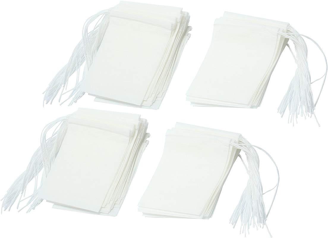 Leegoal TM Disposable Drawstring Seal Filter Empty Paper Tea Bags White M Size Set Of 100