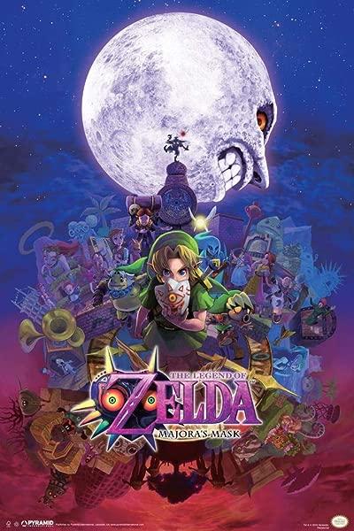 Pyramid America The Legend Of Zelda Majoras Mask Nintendo Fantasy Video Game Laminated Dry Erase Sign Poster 24x36