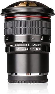 Meike 8mm f/3.5 Ultra HD lente ojo de pez para cámaras Fujifilm X, objetivo fijo sin zoom
